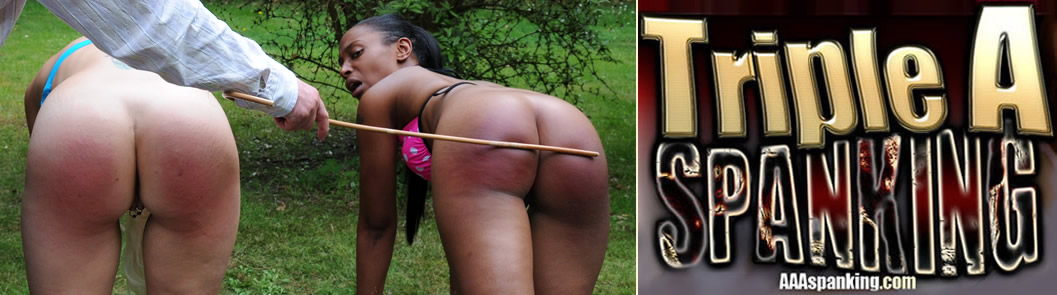 Lola Marie and Wynter Sky Get Caught Nude Sunbathing: Spanking Punishment for them