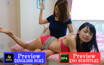 Rina, Hana, sisters, swimsuit, spanking, dom, spanking, punishment, movie, japanese, all-girl, スパンキング, お尻, お仕置き, お尻叩き, アダルト動画, 調教
